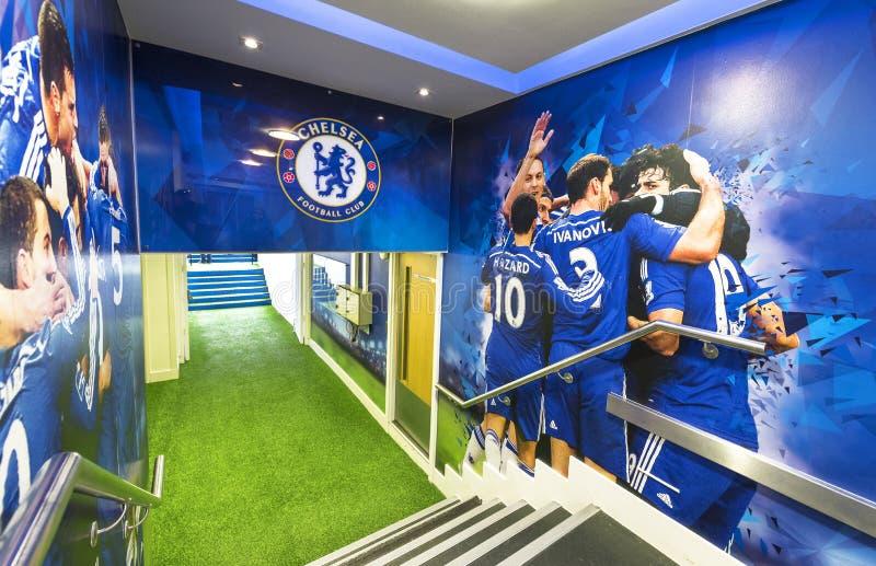 FC Chelsea stadium tunnel royalty free stock image