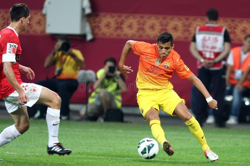 FC Dinamo Bucarest-FC Barcelone image libre de droits