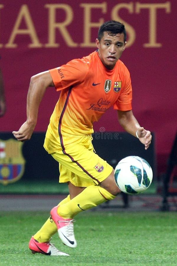 FC Dinamo Bucareste-FC Barcelona imagem de stock