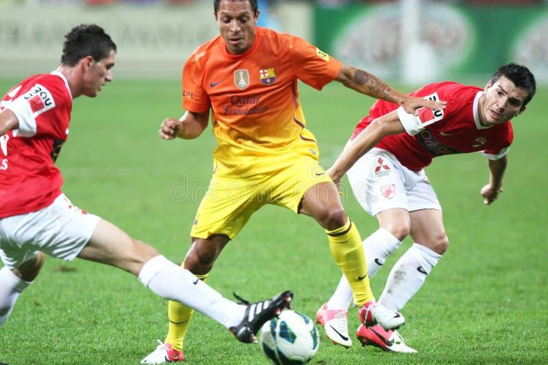 FC Dinamo Bucareste-FC Barcelona fotografia de stock