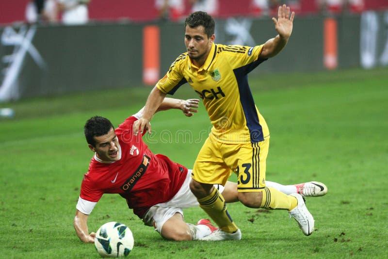 FC Dinamo Bucareste Metalist Harkov fotos de stock royalty free
