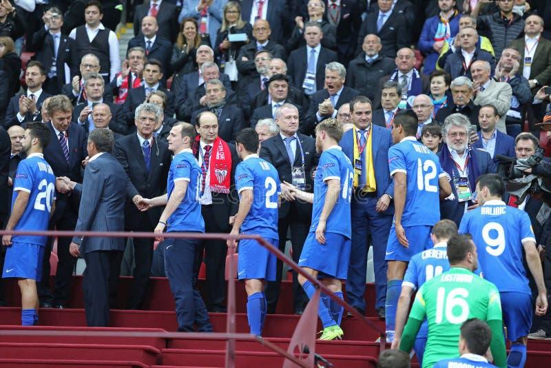 FC Dnipro Dnipropetrovsk - les médaillés d'argent de l'euro de l'UEFA photos libres de droits