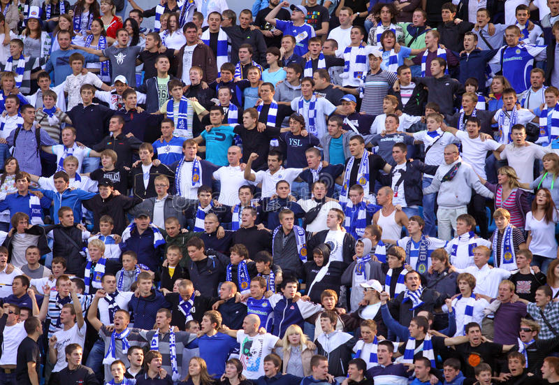 FC Dynamo Kiev supporters royalty free stock images