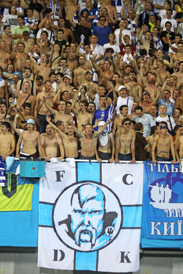 FC Dynamo Kiev team supporters royalty free stock photography