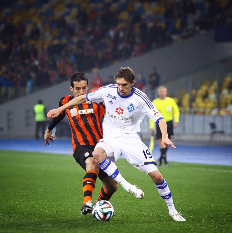 FC Dynamo Kyiv de partie du championnat de l'Ukraine contre Shakhtar Donetsk images libres de droits
