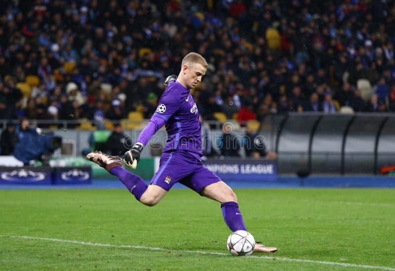 FC Dynamo Kyiv för lek för liga för UEFA-mästare vs Manchester City in arkivfoton