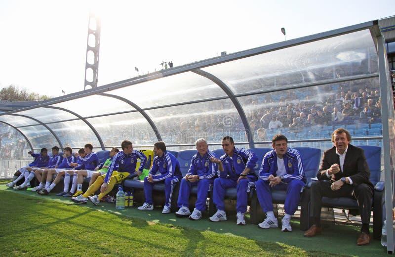 FC Dynamo Kyiv's managers stock photos