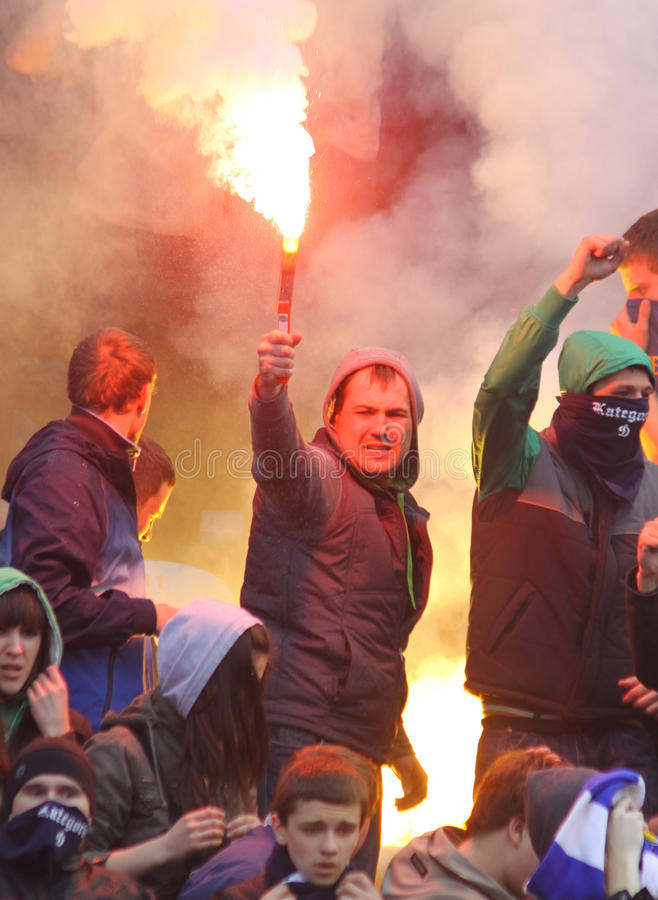 Download FC Dynamo Kyiv Ultra Supporters Editorial Photo - Image: 13690831