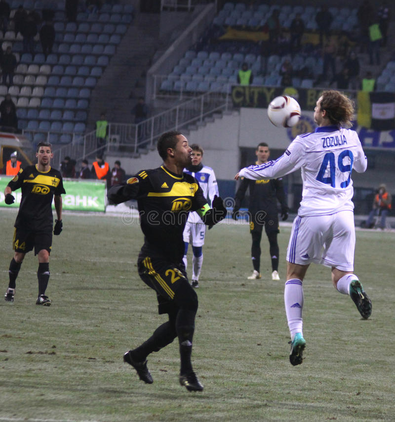 FC Dynamo Kyiv Vs FC Sheriff Tiraspol Editorial Stock Photo