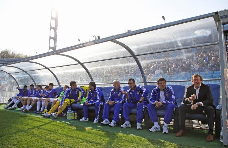 FC Dynamo Kyivs Manager stockfotos