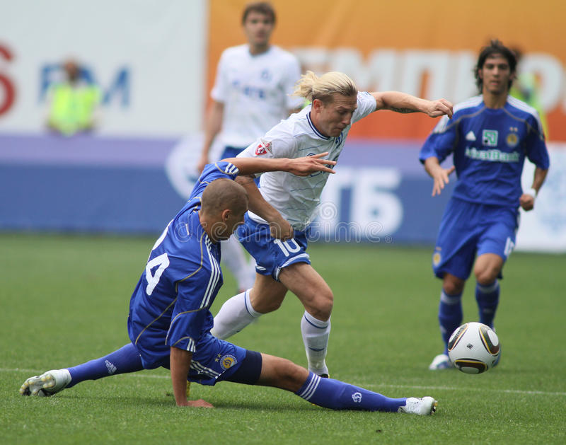 FC dynamo Moskou versus FC Dynamo Kyiv stock fotografie