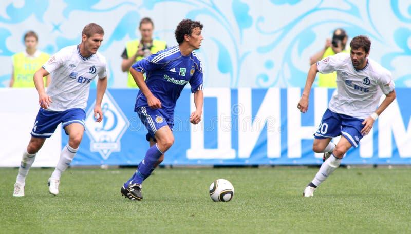 FC dynamo Moskou versus FC Dynamo Kyiv stock foto