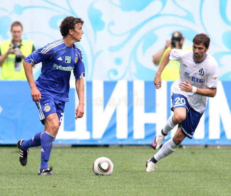 FC dynamo Moskou versus FC Dynamo Kyiv royalty-vrije stock foto's