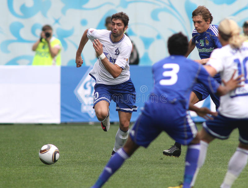 FC dynamo Moskou versus FC Dynamo Kyiv royalty-vrije stock fotografie