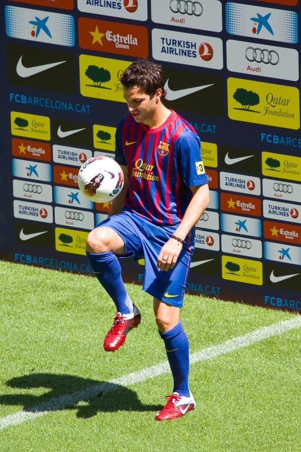 fc för barcelona cescfabregas fotografering för bildbyråer