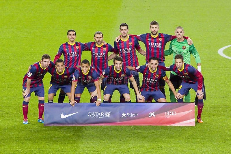 FC het team 2014 van Barcelona royalty-vrije stock afbeelding