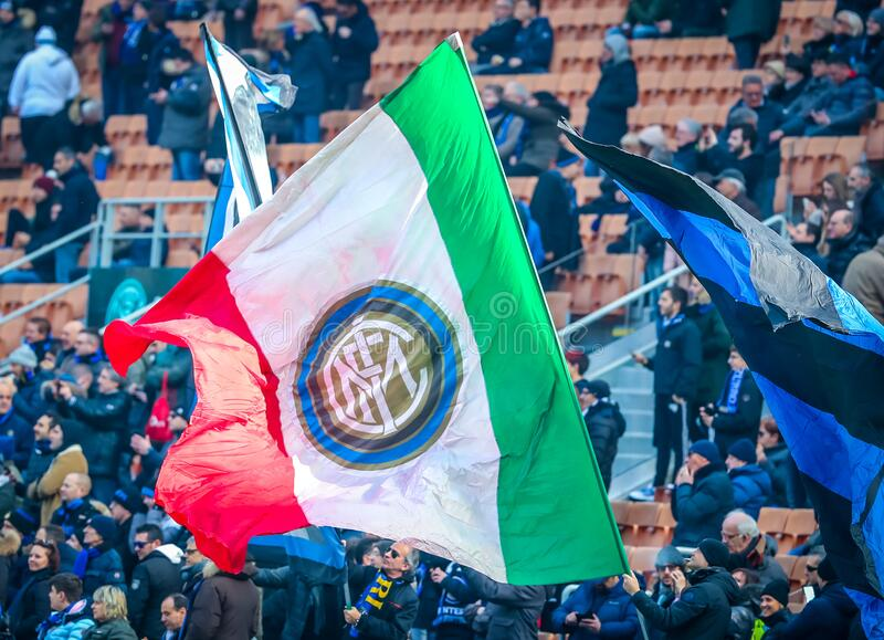 italian Serie A soccer match FC Internazionale vs Cagliari Calcio royalty free stock photos