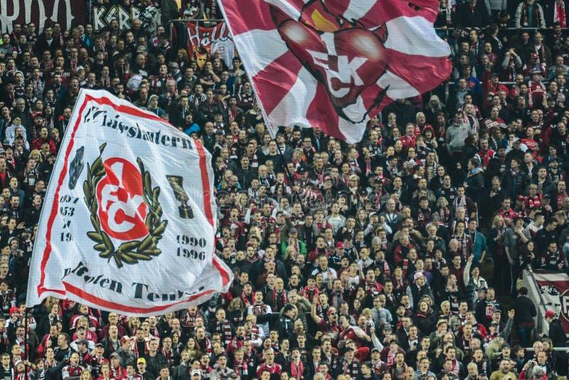 1 FC Kaiserslautern y 1FC Koln fotos de archivo libres de regalías