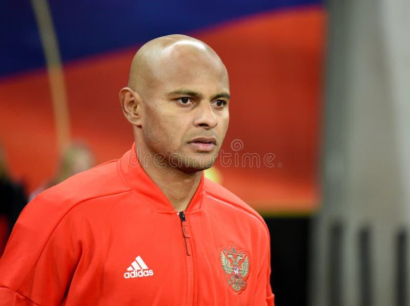 FC Krasnodar en de Russische nationale striker Ari van het voetbalteam stock afbeeldingen
