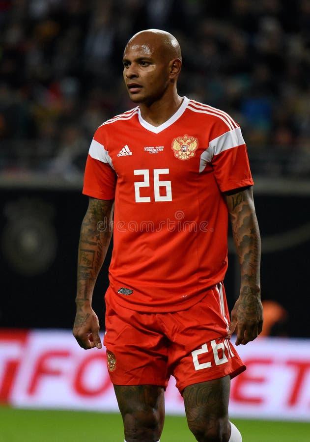 FC Krasnodar en de Russische nationale striker Ari van het voetbalteam stock fotografie