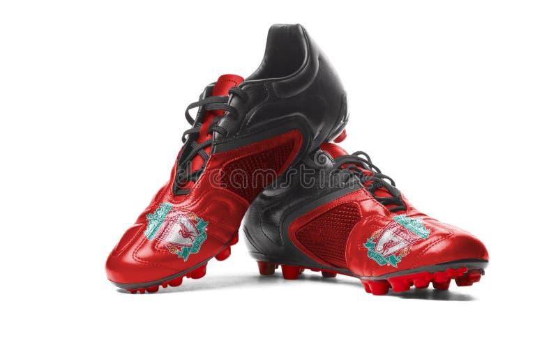FC Liverpool - Fußballstiefel lizenzfreie stockfotografie