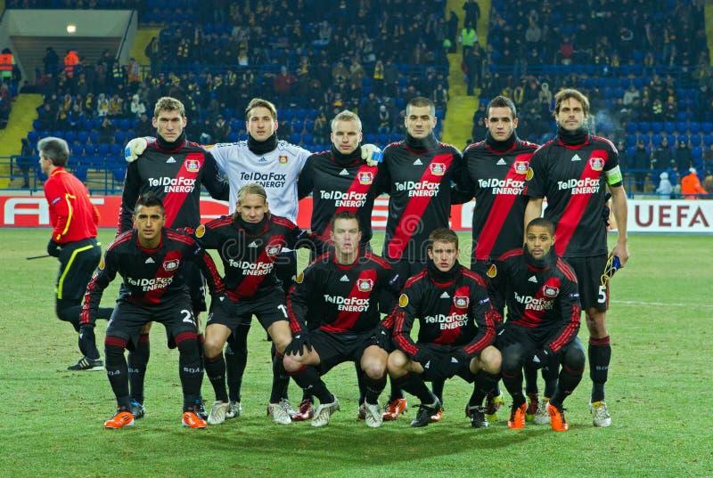 FC Metalist Kharkiv - Bayer 04 Leverkusen lizenzfreie stockbilder