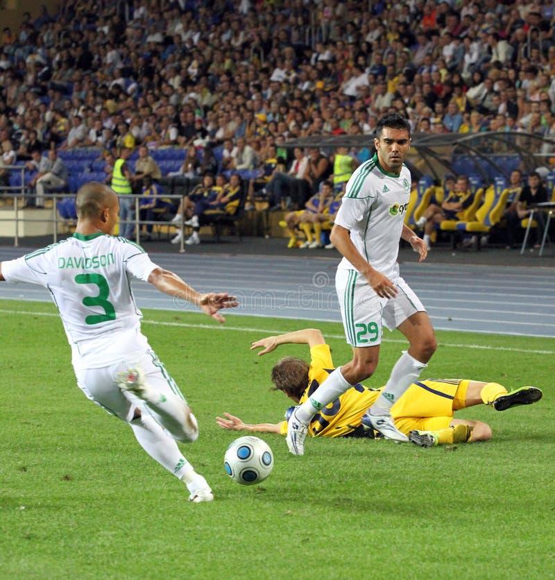 FC Metalist Kharkiv contre l'allumette à C.A. Omonia Nicosia images stock