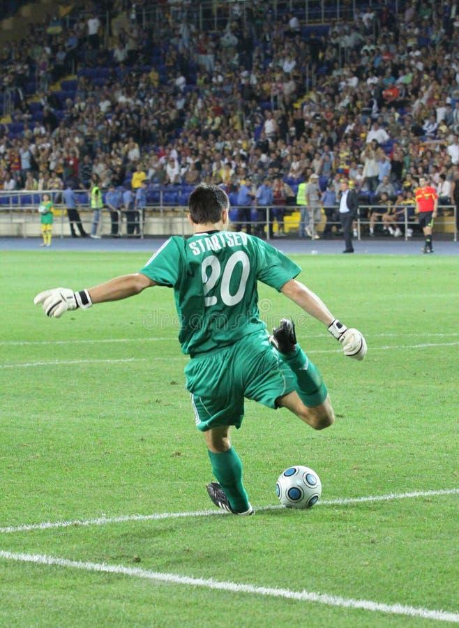 FC Metalist Kharkiv contre l'allumette à C.A. Omonia Nicosia photo stock