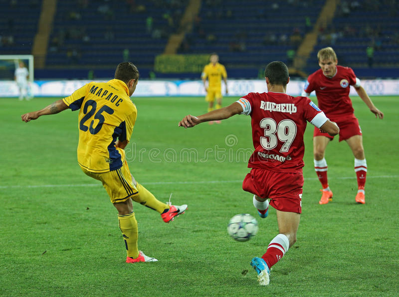 FC Metalist vs FC Illichivets soccer match stock images
