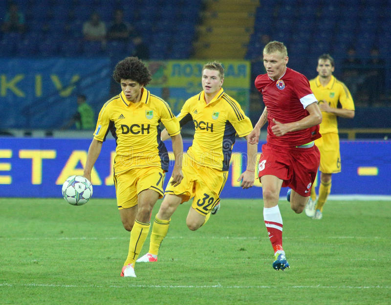 FC Metalist vs FC Illichivets soccer match royalty free stock photography