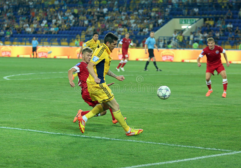 FC Metalist vs FC Illichivets soccer match royalty free stock photo