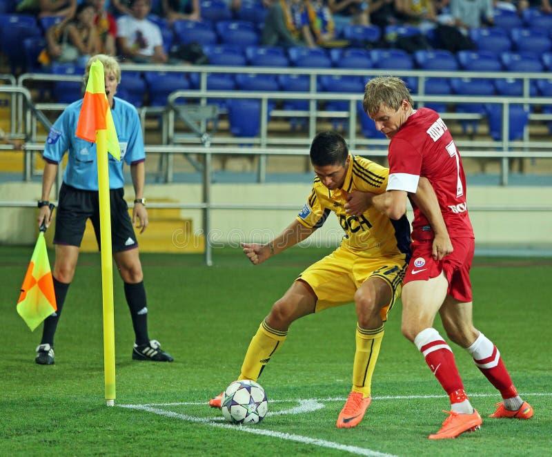 FC Metalist vs FC Illichivets soccer match royalty free stock photos