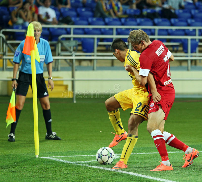 FC Metalist vs FC Illichivets soccer match stock photo