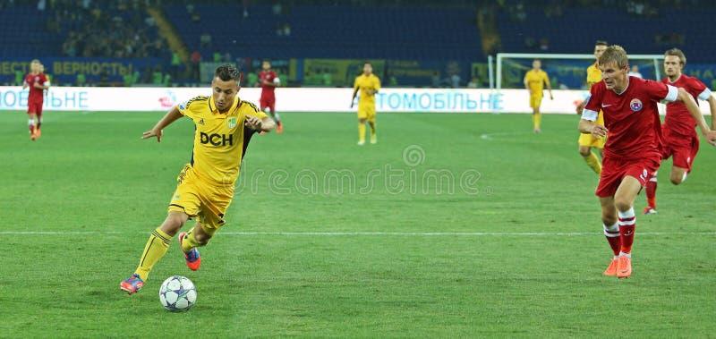 FC Metalist vs FC Illichivets soccer match stock photography