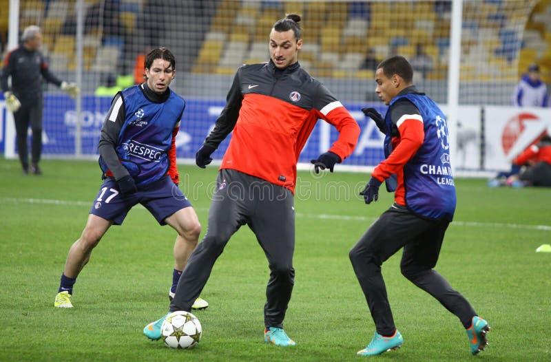 FC Paris Heilig-Germain Spieler stockfotos