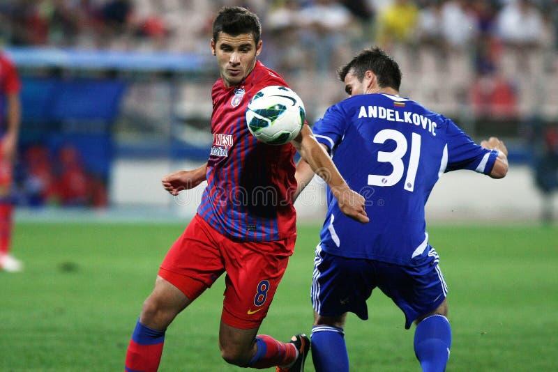 FC Steaua布加勒斯特- FC Ekranas 免版税库存照片