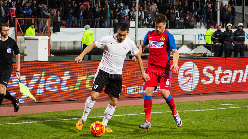 FC Voluntari - Steaua Bucuresti photographie stock