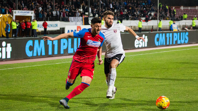FC Voluntari - Steaua Bucuresti image libre de droits