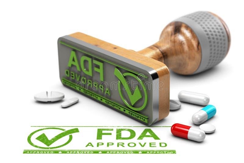 FDA批准的药物 向量例证