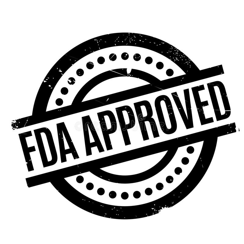 Fda Approved rubber stamp stock illustration