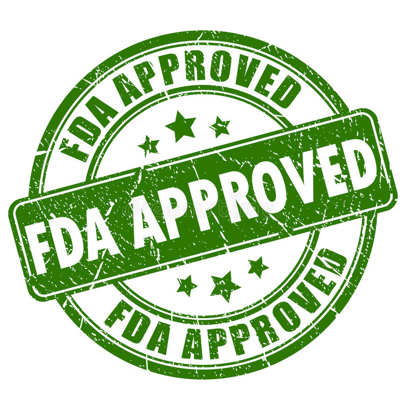 Fda approved rubber stamp stock illustration