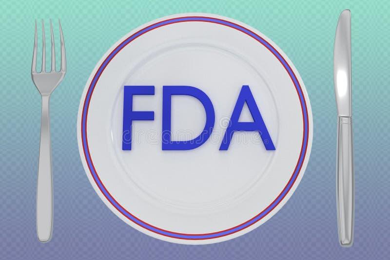 FDA - concept de santé illustration stock