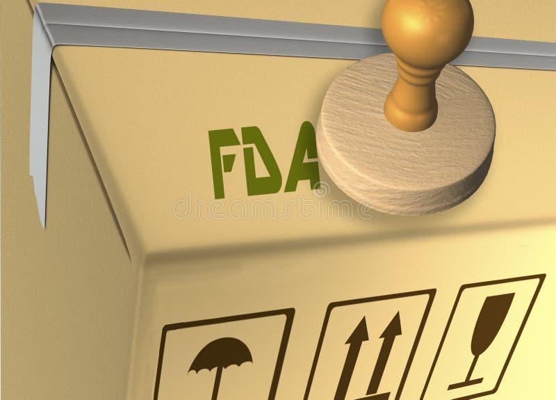 FDA - Hälsobegrepp stock illustrationer