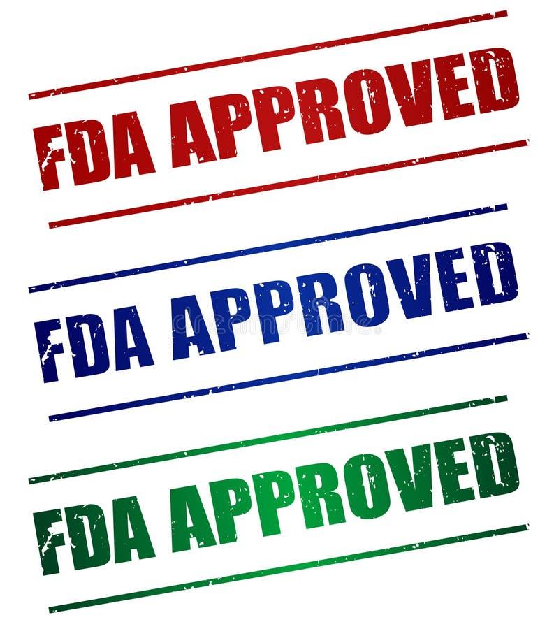 FDA ZATWIERDZAŁ royalty ilustracja