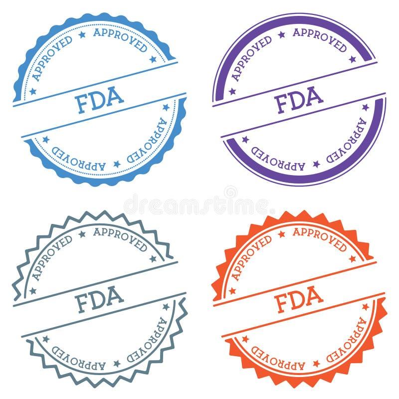 FDA Zatwierdzał odznakę odizolowywającą na białym tle royalty ilustracja