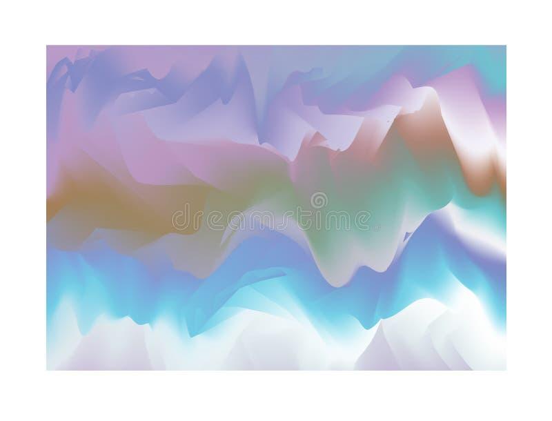 Fdesign holográfico abstrato da ilustração do fundo ilustração royalty free