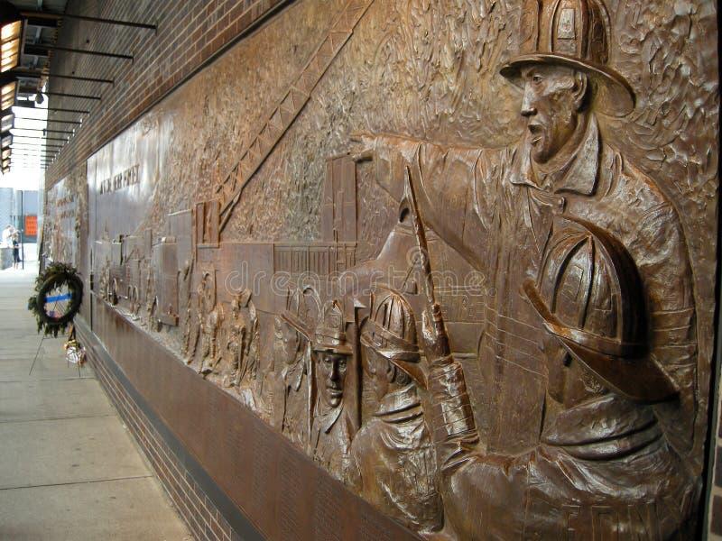 fdny αναμνηστικός τοίχος στοκ φωτογραφία