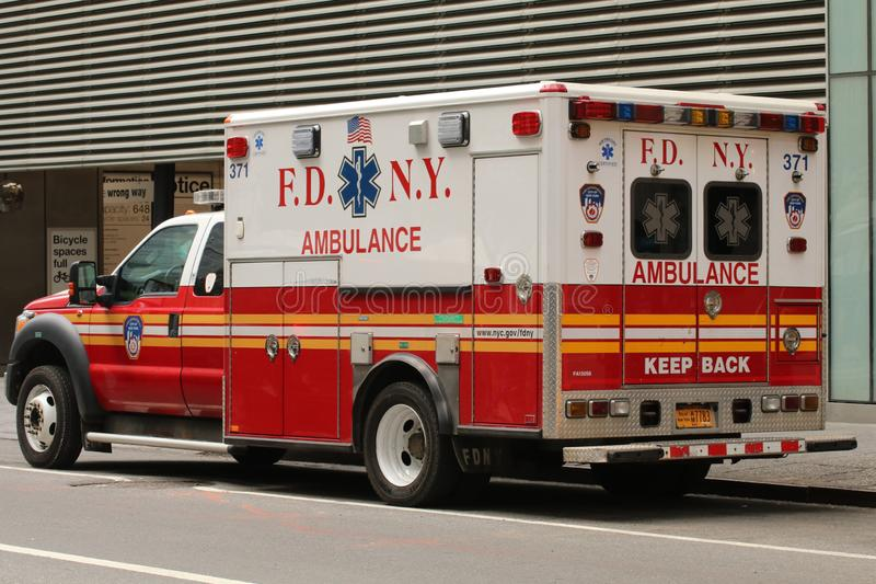 FDNY Ambulance, Emergency Medical Service, First Responder royalty free stock photo