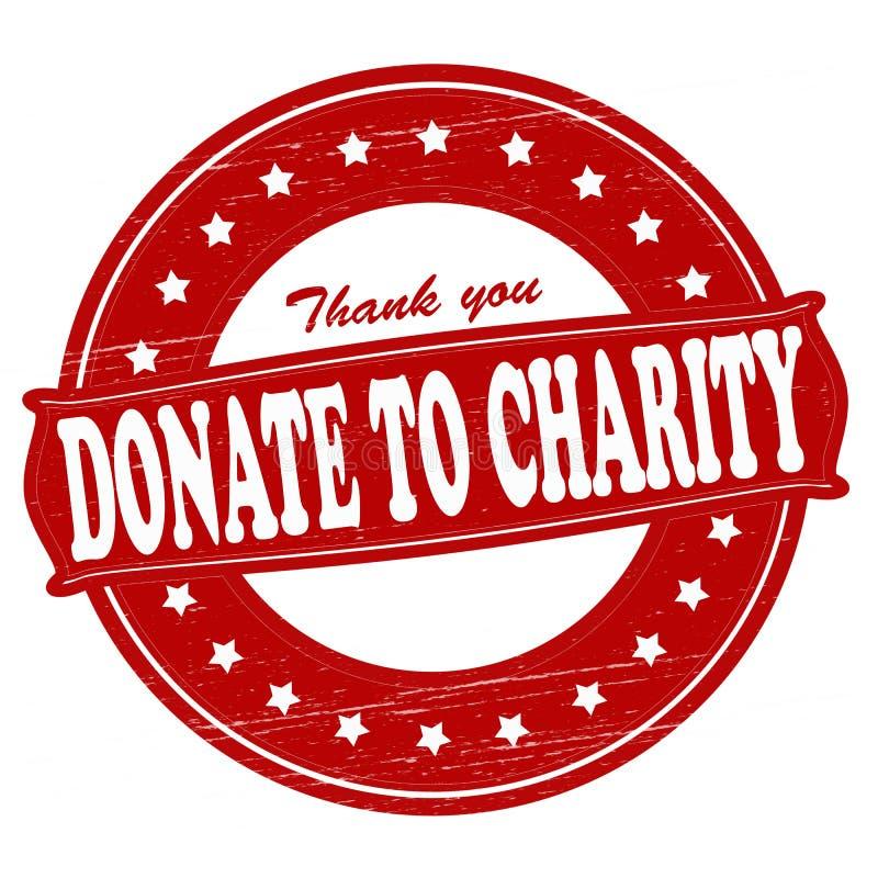 FDonate à caridade ilustração royalty free