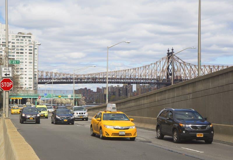 FDR przejażdżka w środku miasta Manhattan zdjęcia royalty free